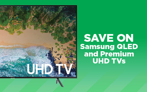 Save on Samsung QLED and Premium UHD TVs