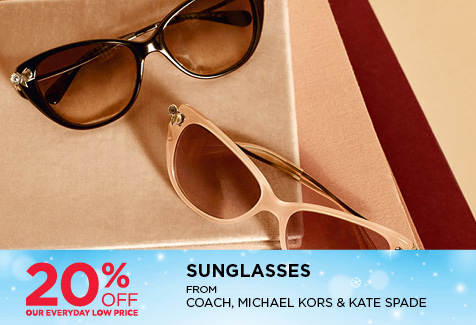 20% Off Sunglasses from Coach, Michael Kors & Kate Spade