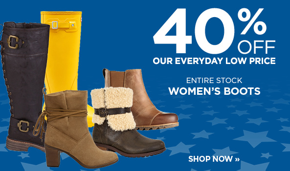 40% off Entire Stock of Women's Boots