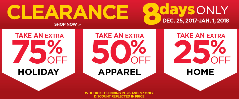 Take An Extra 25% 75% Off Clearance Items