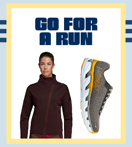 Go For a Run in New Athletic Shoes