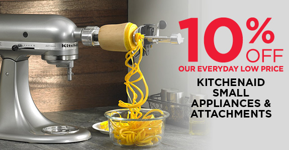 10% OFF All Kitchenaid Small Appliances and Attachments