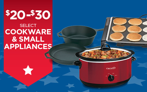 Cookware & Small Appliances on Sale for $20-$30