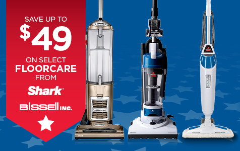 Save Up to $49 on Bissell and Shark Floorcare
