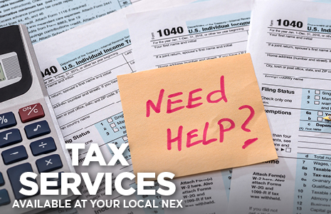 Tax Services Available at Your Local NEX