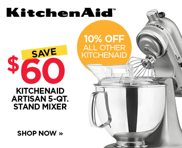 $60 OFF ALL KITCHENAID ARTISAN & PRO 600 MIXERS
