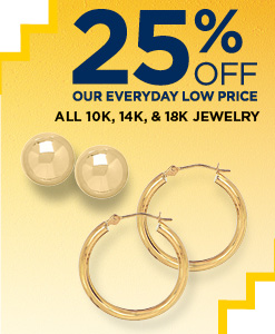 20% Off 10k, 14k and 18k jewelry