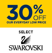 30% off Select Swarovski