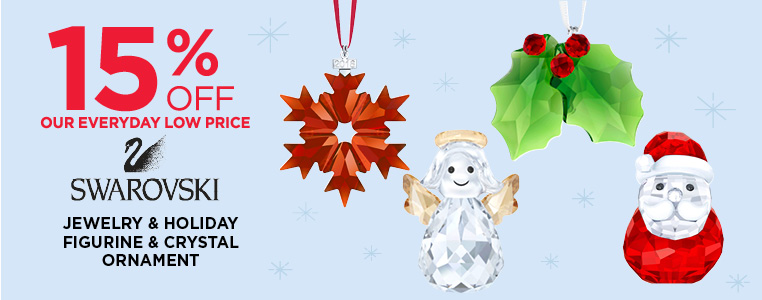 15% Off Swarovski Holiday Figurines and Ornament