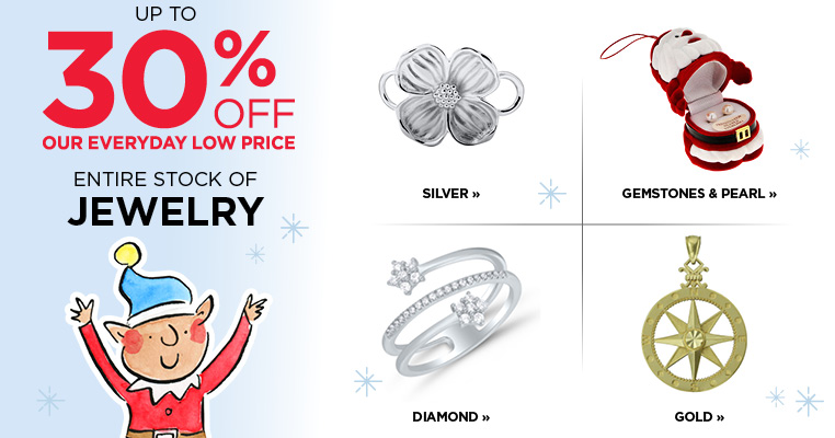30% Off Entire Stock of Jewelry