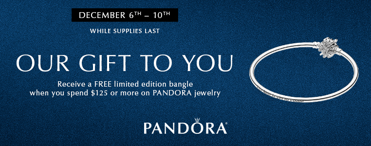 Spend $125 on Pandora and Get a Free Limited Edition Bangle