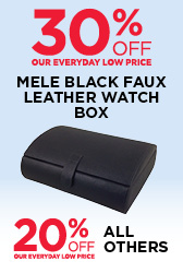 30% Off Mele Faux Leather Watch Box