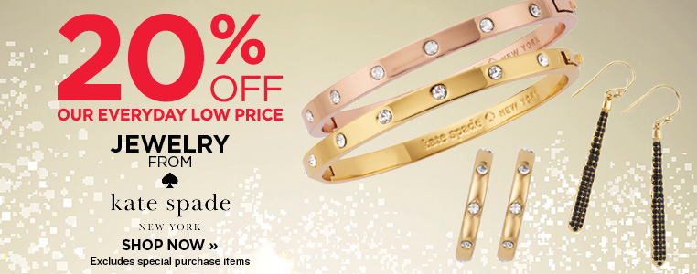 20% OFF JEWELRY FROM KATE SPADE