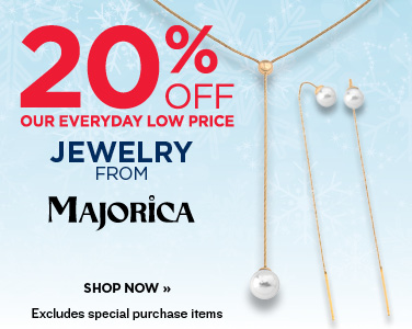 20% OFF JEWELRY FROM MAJORICA