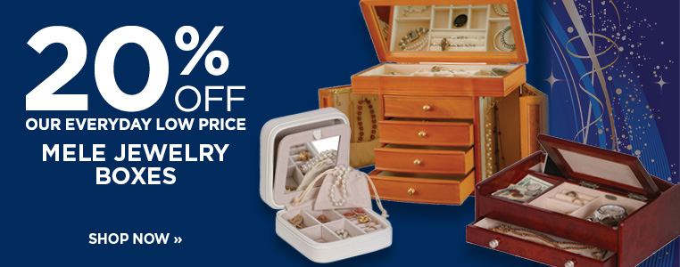 20% OFF MELE JEWELRY BOXES