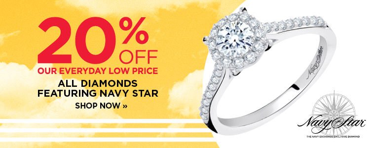 20% Off All Diamonds Featuring Navy Star
