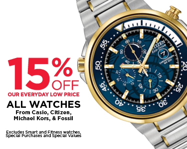 15% Off Select Watches
