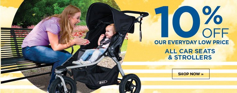 10% off Car Seats and Strollers
