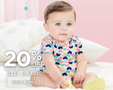 20% off Baby Apparel