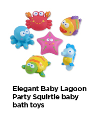 Elegant Baby Lagoon Party Squirtie Baby Bath Toys