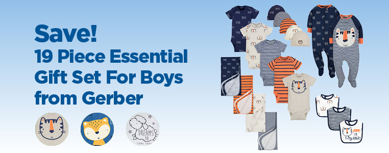 19 Piece Essential Gift Set For Boys from Gerber