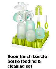 Boon Nursh Bundle Bottle Feeding & Cleaning Set