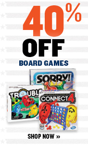 40% OFF BOARD GAMES
