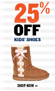 25% off kids' shoes