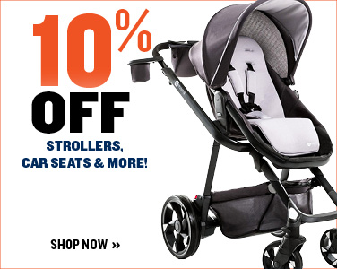 10% off car seats, strollers, and more