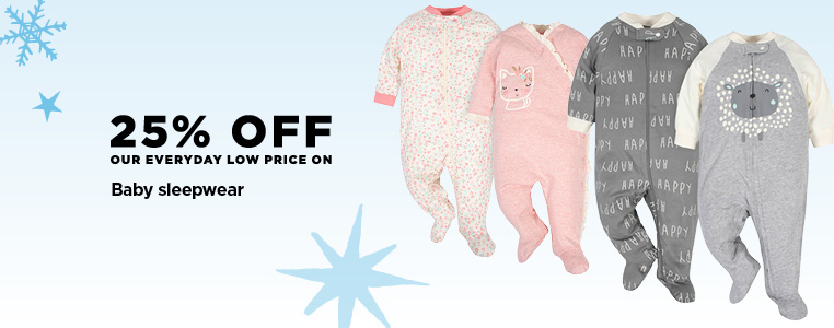 25% Off Baby Sleepwear