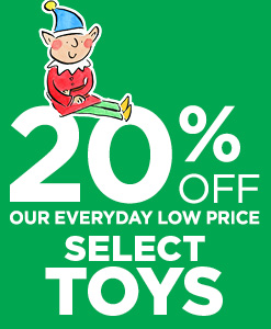 20% off select toys