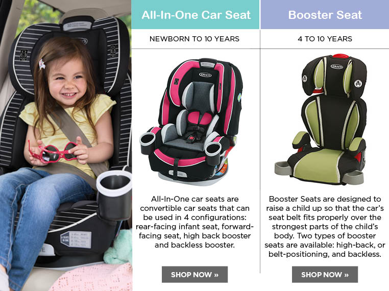 booster seats and all in one car seats