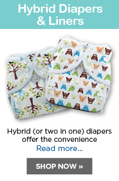 HYBRID DIAPERS AND LINERS