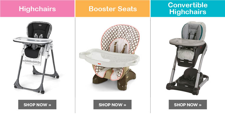 Highchairs, Booster Seats, & Convertible Highchairs