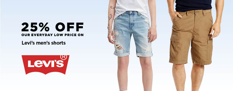 25% off Levi's Men's shorts