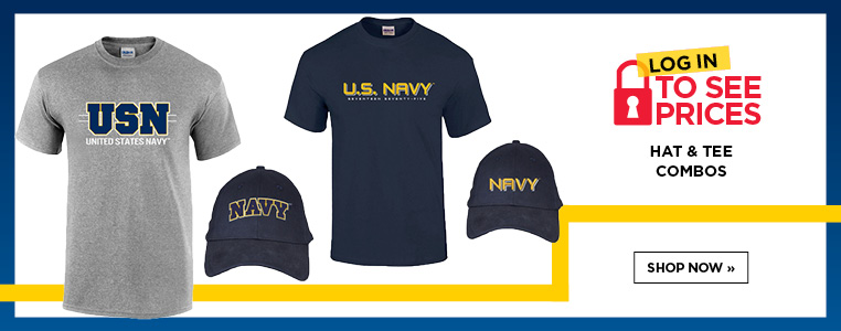 Shop Navy Pride Hat and Tee Combo