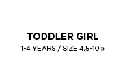 Toddler Girl's / 1-4 Years / Size 4.5-10