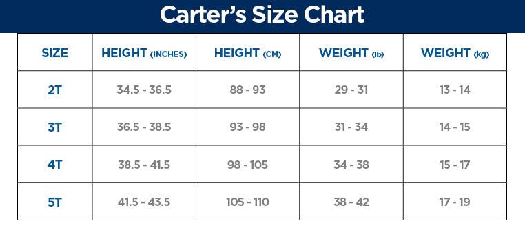 Carters Size Chart - Size charts cuddlycherub store ...