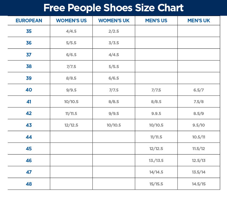 Columbia Shoes Size Chart