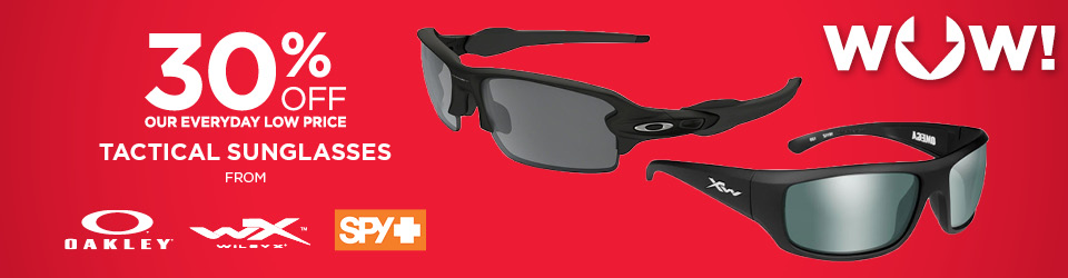 40% off Tactical Sunglasses from Oakley, WileyX, Spy