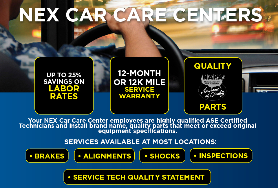 NEX Car Care Centers offer a variety of automobile services
