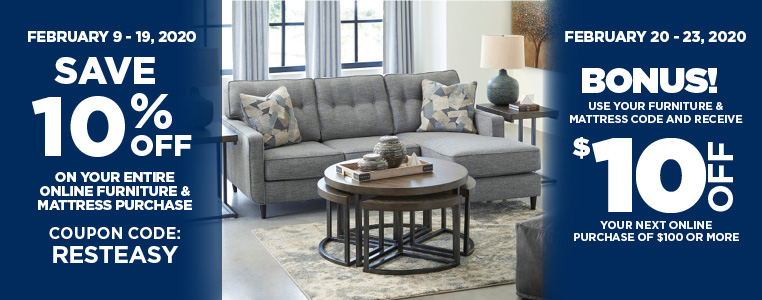 Save 10% Off Furniture & Mattress Purchase