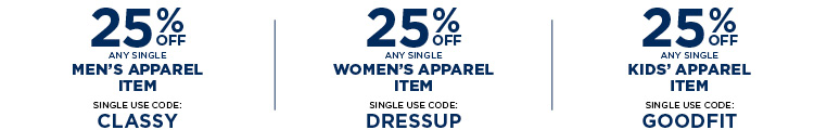 Save with apparel coupons