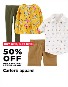 Buy One Get One 50% off Carter's Apparel