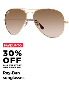 Up to 30% off Ray-Ban Sunglasses