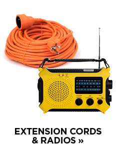 Extension cords and radios