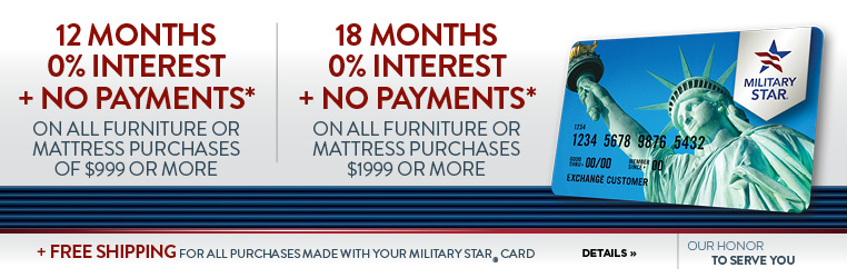 Military Star card offers on Furniture