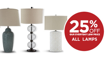 25% Off All Lamps