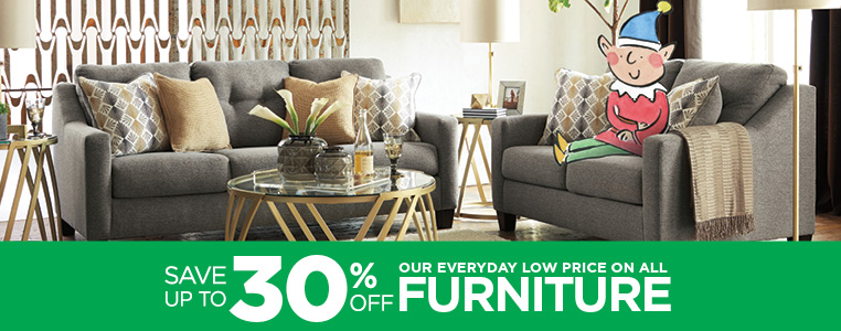 Save Up To 30% Off Our Everyday Low Price On All Furniture