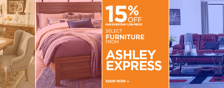 Save 15% Off Select Furniture from Ashley Express
